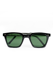 Spitfire Black Green Sunglasses - Front cropped