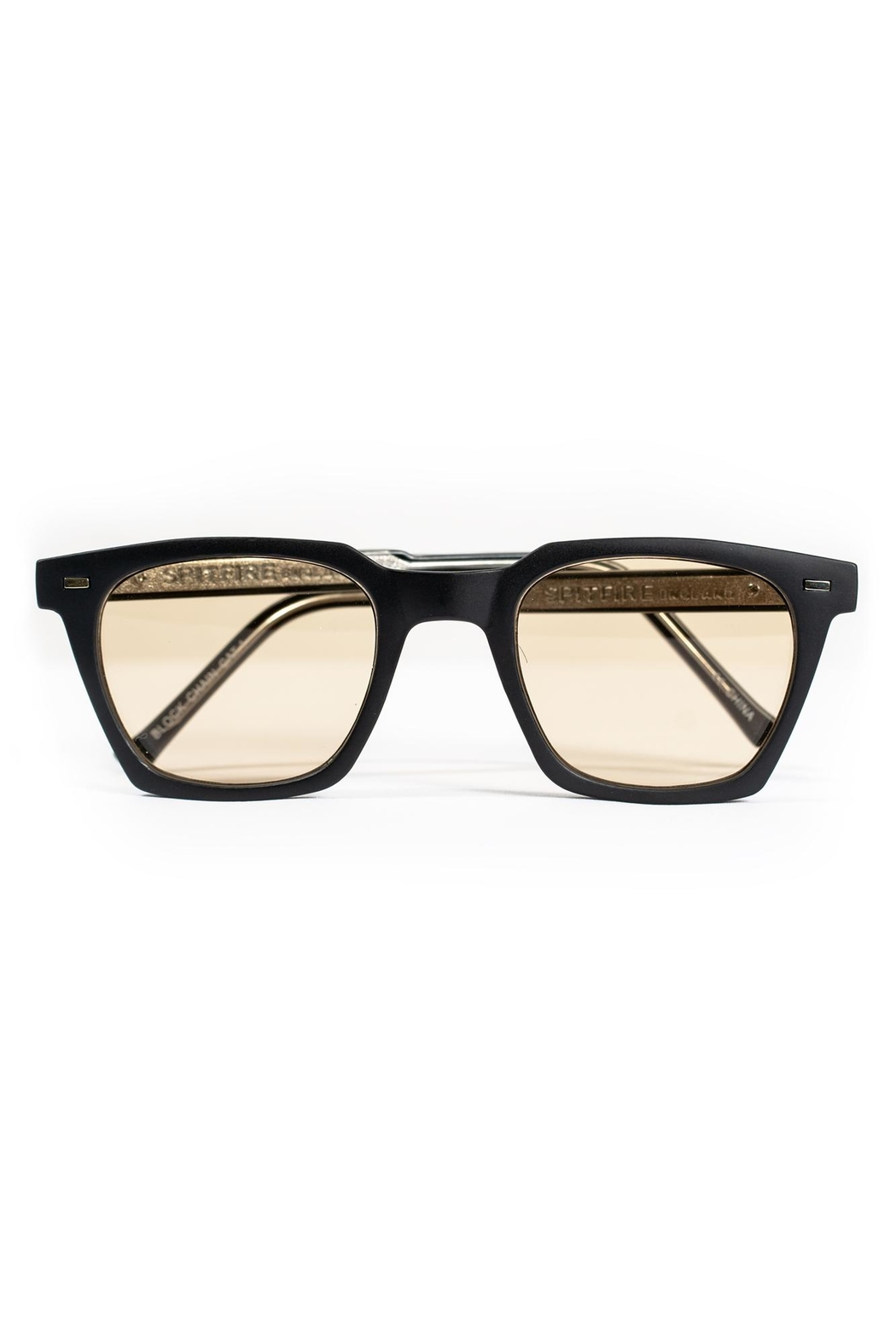 Spitfire Black Tan Sunglasses - Front Cropped Image
