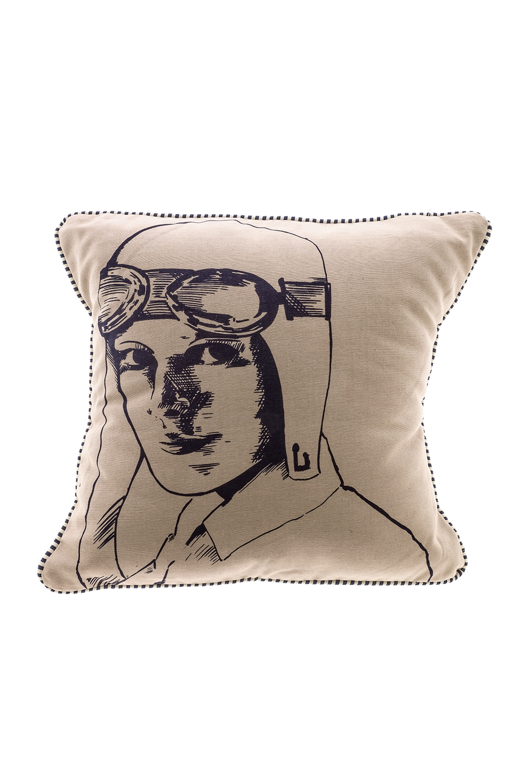 Spitfire Girl Amelia Earhart Pillow - Front Cropped Image