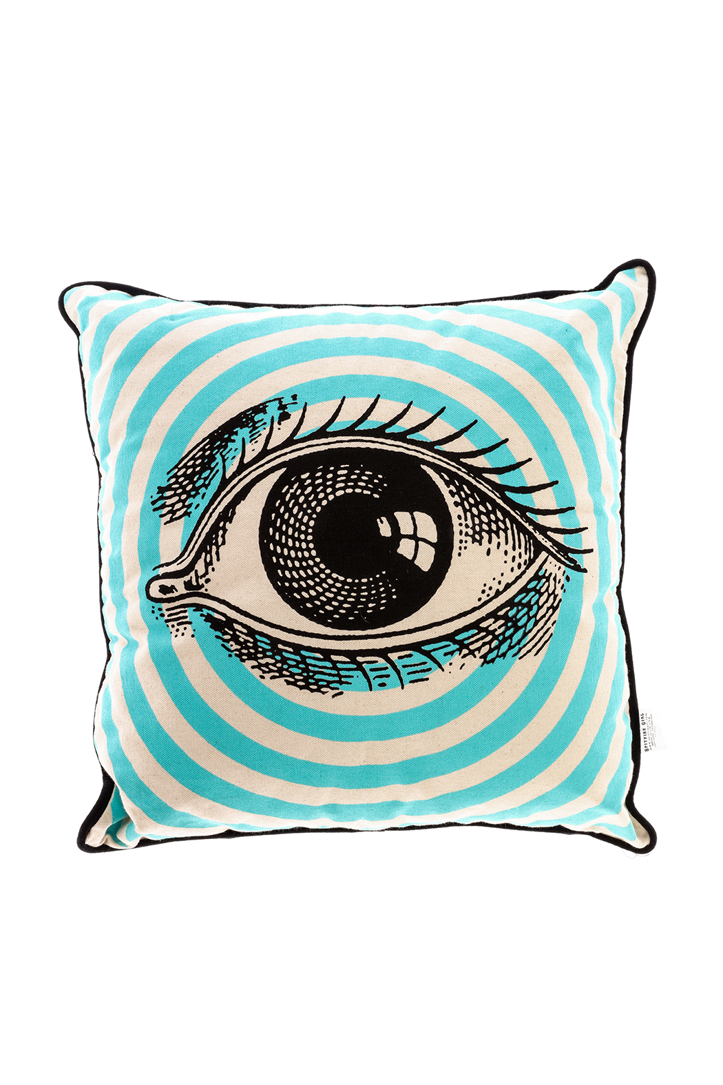 Spitfire Girl Open Eye Print Pillow - Front Cropped Image