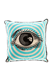 Spitfire Girl Open Eye Print Pillow - Front cropped
