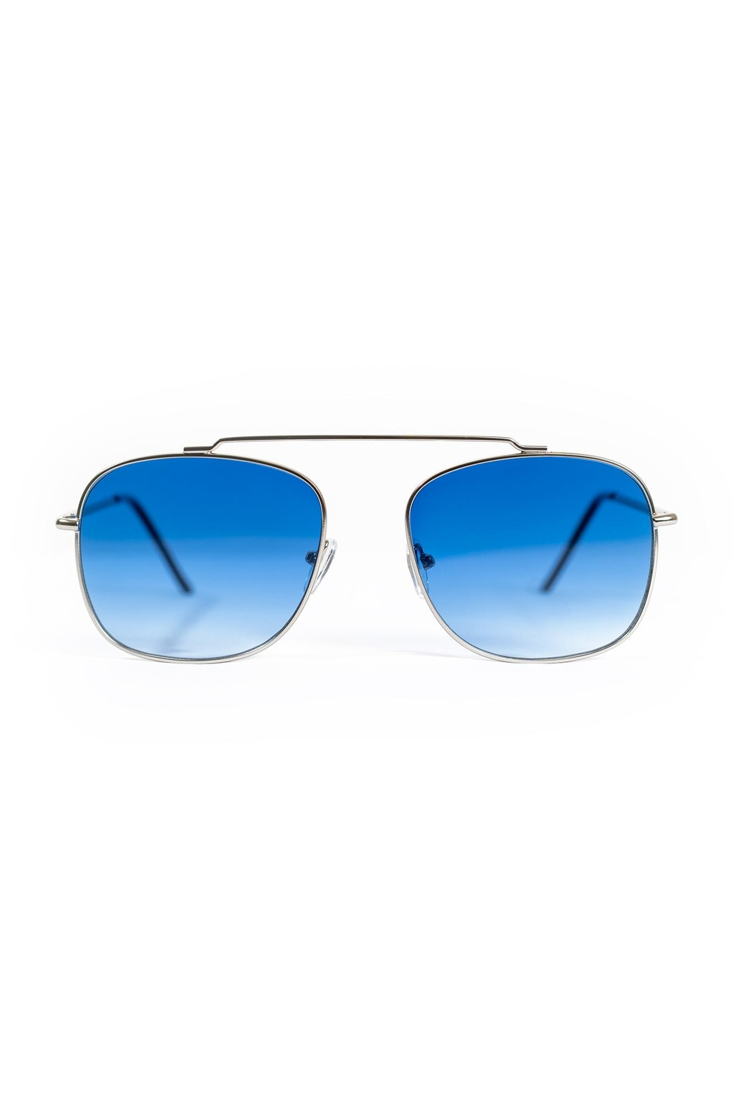 Spitfire Silver Blue Sunglasses - Front Full Image