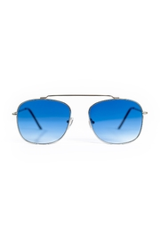 Spitfire Silver Blue Sunglasses - Front full body