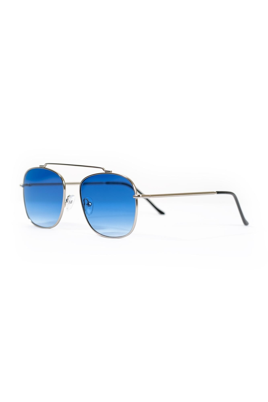 Spitfire Silver Blue Sunglasses - Side Cropped Image