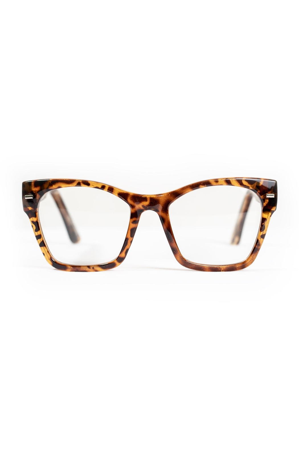 Spitfire Tortoise Clear Sunglasses - Front Full Image
