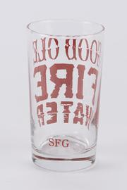 Spitfire Girl Fire Water Glass - Side cropped