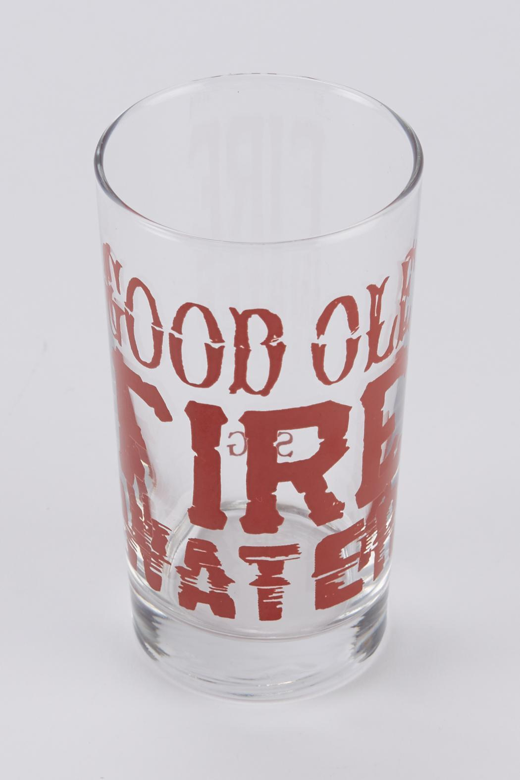 Spitfire Girl Fire Water Glass - Front Full Image