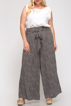 She + Sky Splash Dot Wide Leg Pant Curvy - Product List Image
