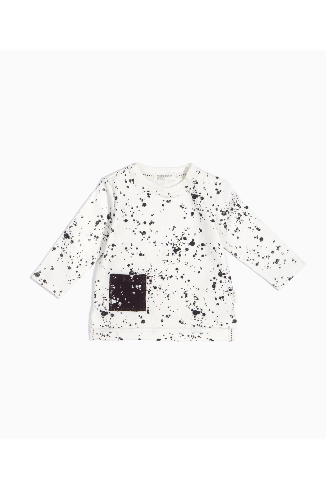 Miles Baby Splat Pocket Tee - Front Cropped Image