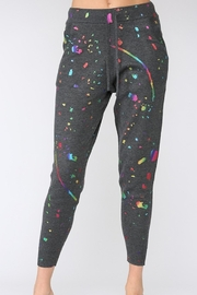 Fate Splatter Paint Knit Joggers - Front cropped