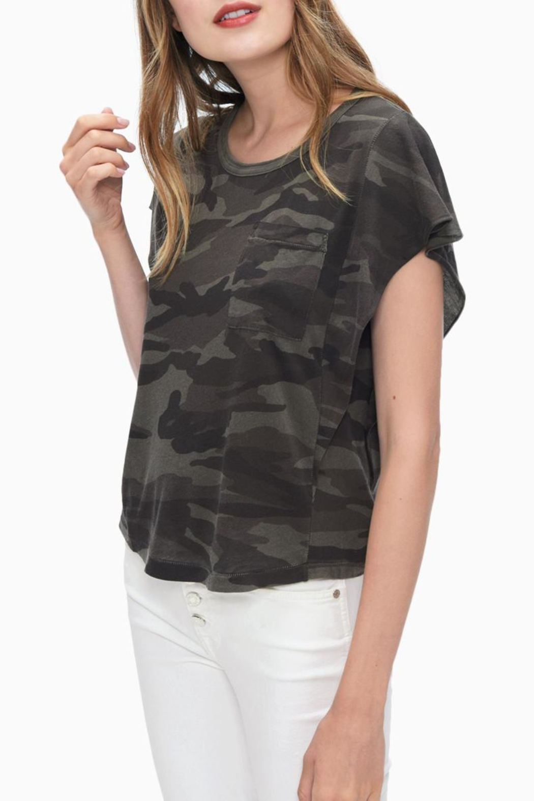 Splendid Camo Print Tee - Front Cropped Image