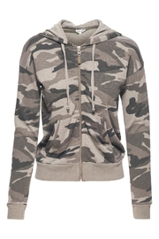 Splendid Camo Zip Hoodie Sweater - Product Mini Image