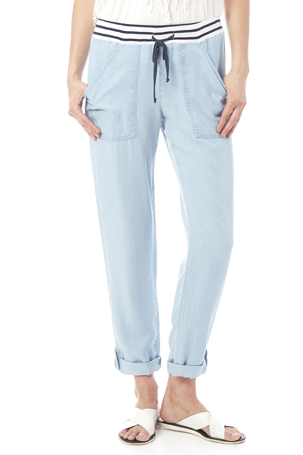 Splendid Chambray Pant - Front Cropped Image