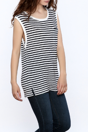 Splendid French Stripe Muscle Tee - Product Mini Image