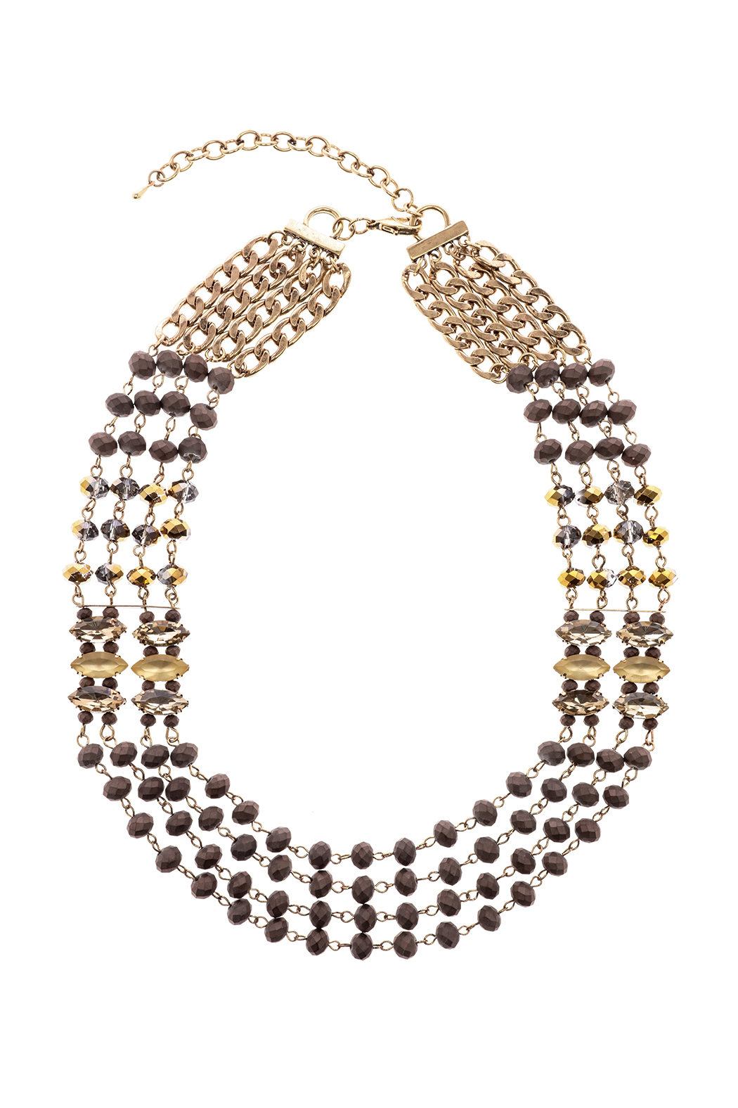 Splendid Iris Multi Chain Necklace - Main Image