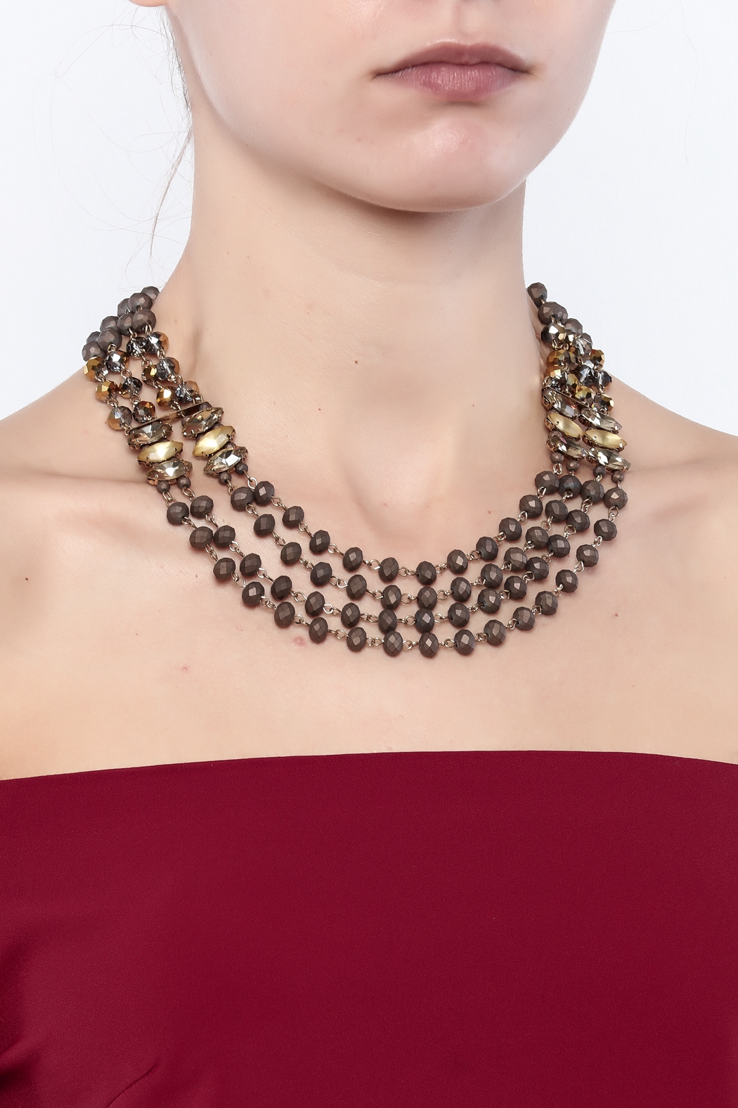 Splendid Iris Multi Chain Necklace - Back Cropped Image