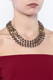 Splendid Iris Multi Chain Necklace - Back cropped