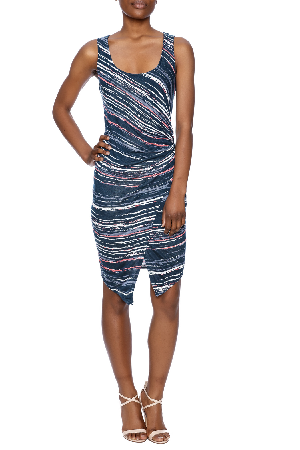 Splendid Knotted Bodycon Dress - Front Full Image