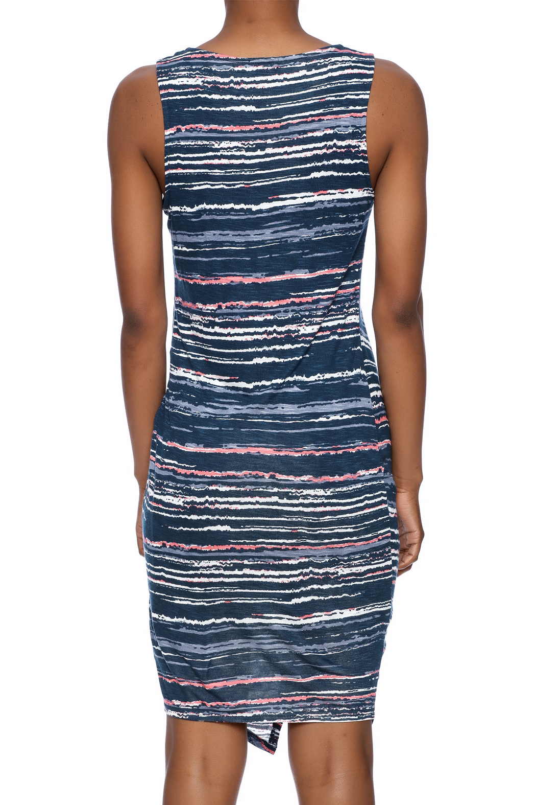 Splendid Knotted Bodycon Dress - Back Cropped Image