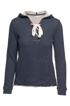 Shoptiques Product: Lace Up Hoodie Sweater