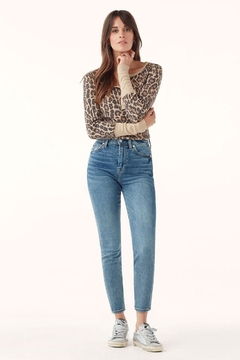 Splendid Leopard Henley Top - Alternate List Image