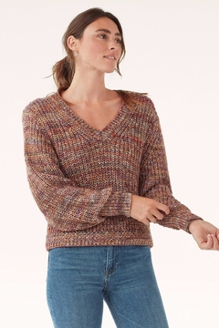 Splendid Loose-Knit Marbled Sweater - Product List Image