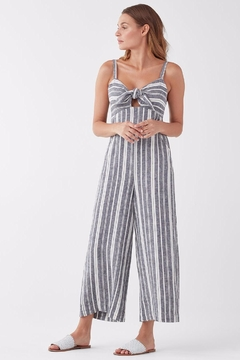 Splendid Neutral Striped Jumpsuit - Product List Image