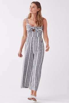 Splendid Neutral Striped Jumpsuit - Alternate List Image