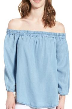 Shoptiques Product: Chambray Off Shoulder Top