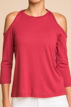 Shoptiques Product: Red Cold Shoulder