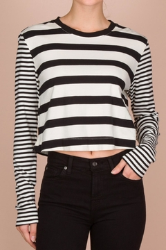 Splendid Striped Cropped Tee - Alternate List Image