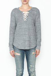 Splendid Thermal Lace Up Top - Front full body