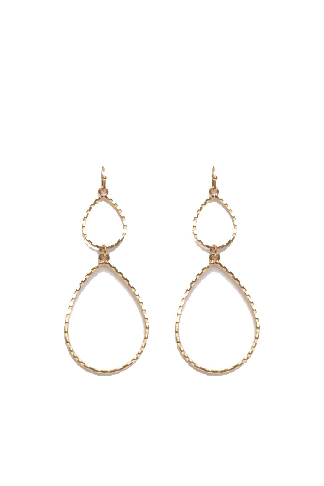 Splendid Iris Gold Teardrop Earrings - Main Image