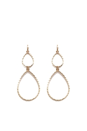 Splendid Iris Gold Teardrop Earrings - Front cropped
