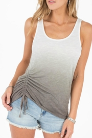 Others Follow  Splendor Ruched Tank - Front cropped