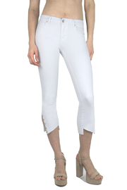 Tractr (New York Poplin) Split Grommet Hem Jean - Front full body