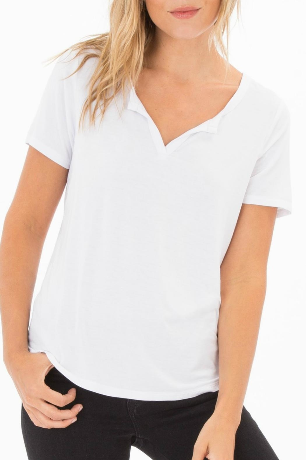 z supply Split Neck Tee - Front Cropped Image