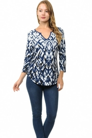 Cubism Split Neck Top - Product Mini Image