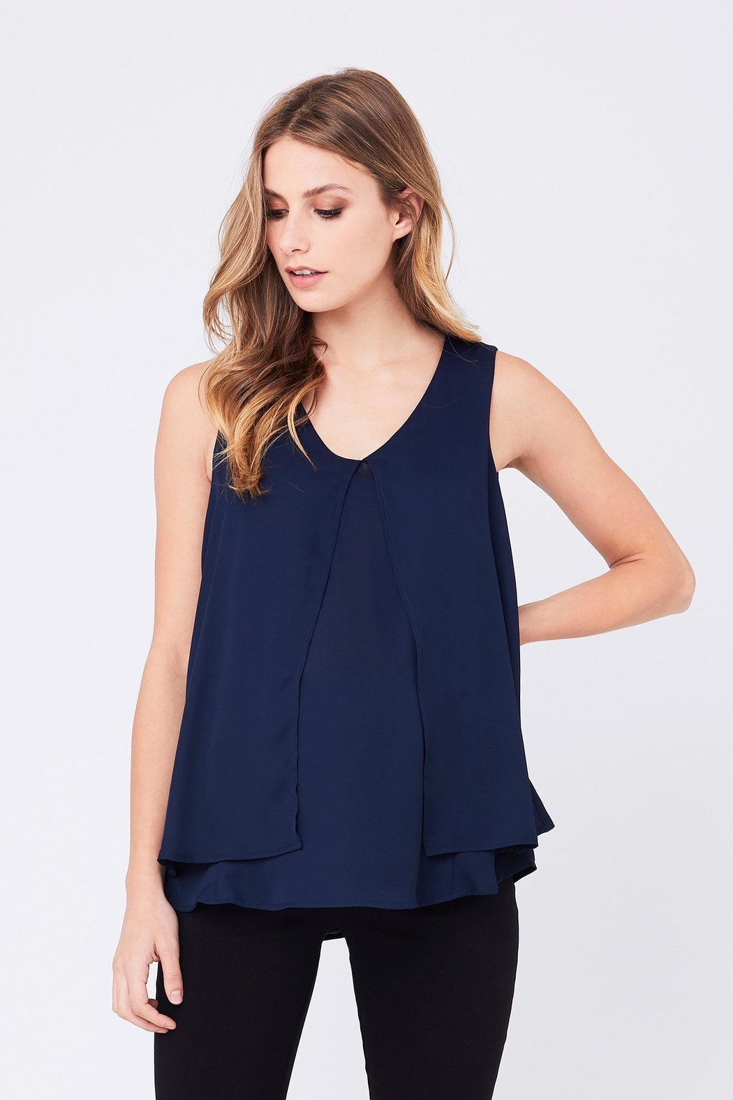 Ripe Maternity Split Nursing Top - Front Cropped Image