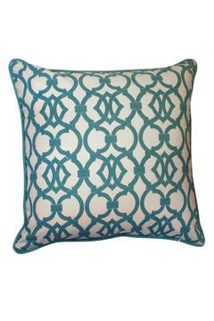 Shoptiques Product: Teal Damask-Geo Pillow