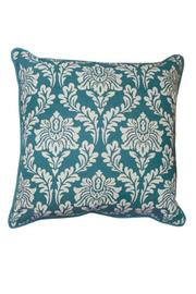 Split P Teal Damask-Geo Pillow - Product Mini Image