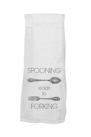 Twisted Wares™ Spooning Leads To Forking Towel - Front cropped
