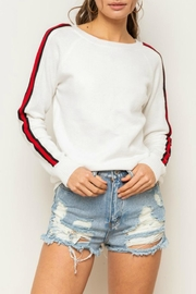 Hem & Thread Sport-Stripe Sweater - Product Mini Image