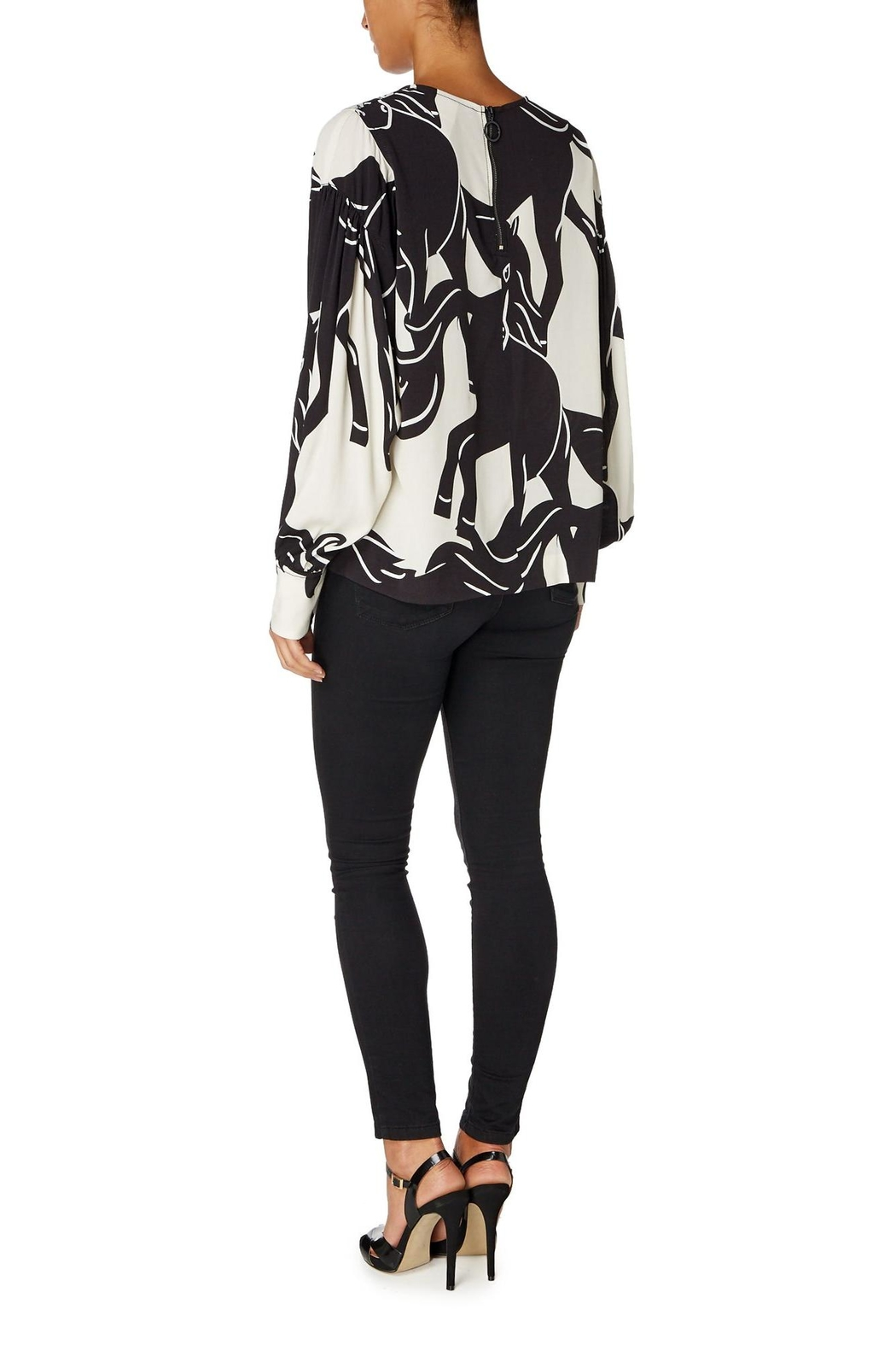 Sport Max Curacao Horse Blouse - Side Cropped Image