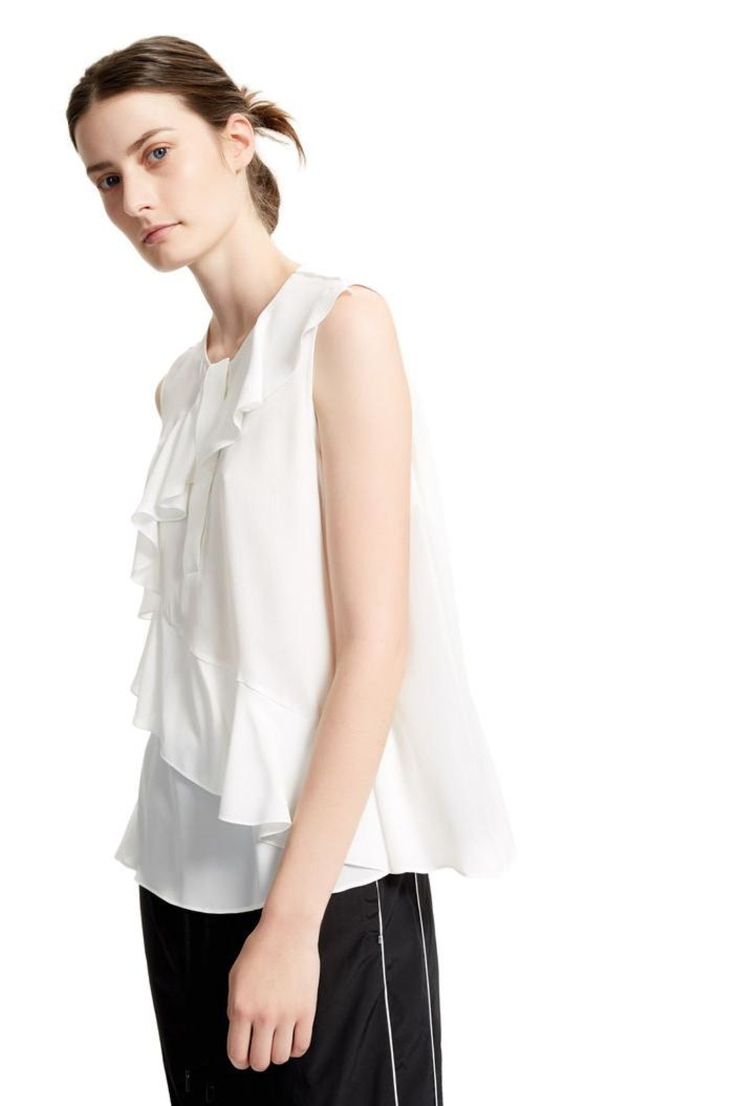 Sport Max White Sleevles Blouse - Side Cropped Image