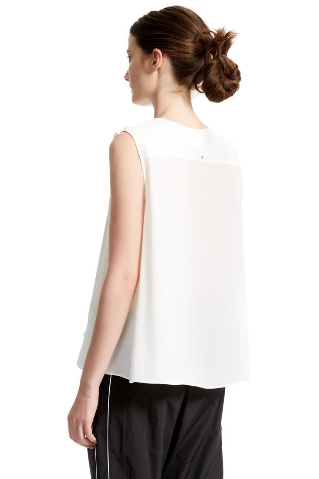 Sport Max White Sleevles Blouse - Back Cropped Image