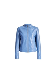 Sportmax Gallo Leather Jacket - Front cropped