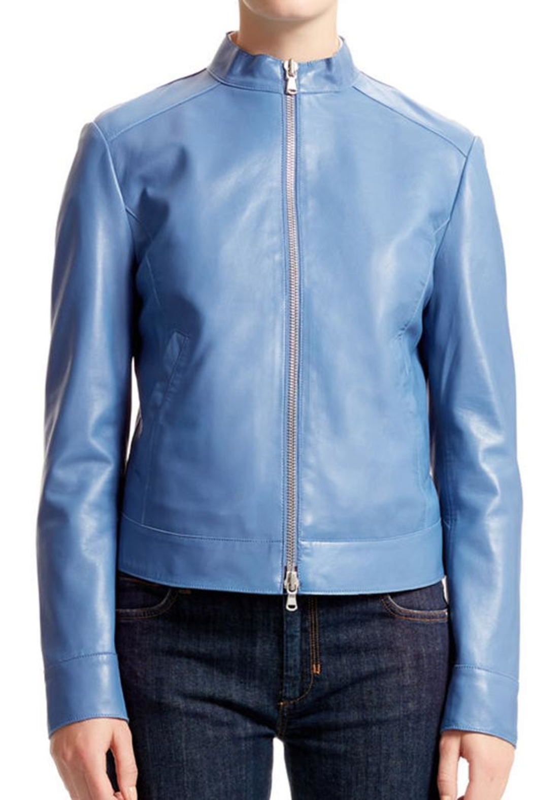 Sportmax Gallo Leather Jacket - Back Cropped Image