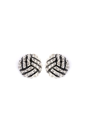 Riah Fashion Sports-Ball Stud Earrings - Product Mini Image