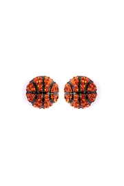 Riah Fashion Sports-Ball Stud Earrings - Front cropped